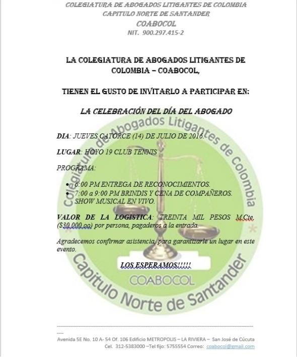 INVITACIÓN DÍA DEL ABOGADO 2